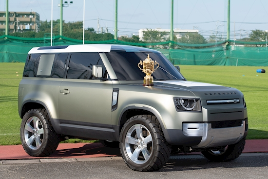 New Land Rover Defender 90 to deliver Rugby World Cup Trophy