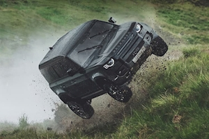 New Land Rover Defender trashed
